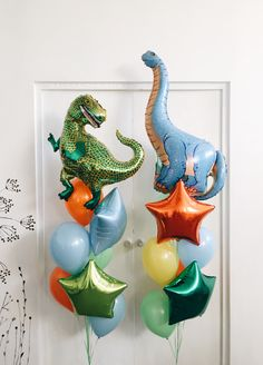 Dinosaur First Birthday, Baby Boy 1st Birthday Party, Third Birthday, 4th Birthday Parties, Birthday Balloons, Birthday Ideas, Balloon Decorations Party, Birthday Party Decorations, Foto Baby