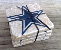 Dallas Cowboys coasters stone tile coasters 4 pack by CoastersSC on Etsy, $15.00