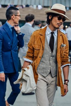 Polished and traditional, but always with a rugged touch and a whole lot of flair . . . that Florentine style spotted outside Pitti Uomo is the ultimate candy for the eyes.