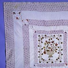 1822 Margret Nolan. Embroidered Quilt. NMAH Smithsonian