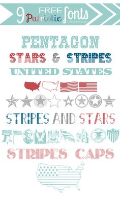 Alex Hurla - I think these are cool 'patriotic fonts' Fancy Fonts, Cool Fonts, Creative Lettering, Hand Lettering, Summer Font, Pretty Writing, Graphic Design Fonts, Typography Fonts, Typography Design