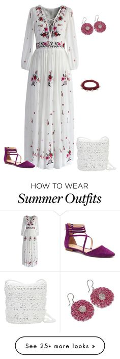 """""""outfit 4740"""" by natalyag on Polyvore featuring Chicwish, Magid, NOVICA and Lucy Folk"""