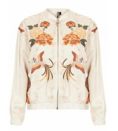 This Topshop nude bomber is beatific. Birds in flight abreast of silken bouquets makes this piece the perfect summer outfit polisher. If you're feeling quintessentially Kate, couple this with a walnut-coloured Melissa Odabash bikini.