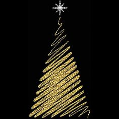 BIN Continuous Line Tree - Kreations by Kara Christmas Fashion, Christmas Art, Christmas Themes, All Things Christmas, Christmas Tree Ornaments, Xmas, Christmas Tree Embroidery Design, Happy New Year Images, Snowflake Cards
