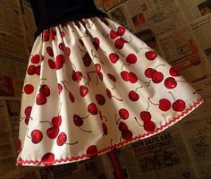 PIn Up Clothing Cherry Skirt Womens Pin Up Full Skirt by Roobys, £18.00