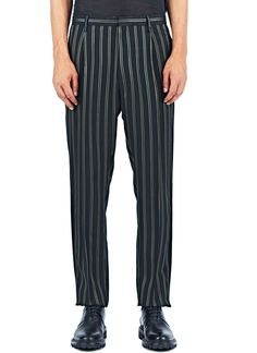 LANVIN Lanvin Men'S One Pleat Striped Pants From Pre Aw15 In Black. #lanvin #cloth #