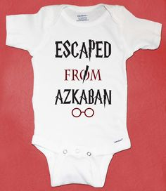 Harry Potter Inspired Onesie, Escaped From Azkaban, Harry Potter Baby Gift, Baby Christmas Gift on Etsy, $13.00