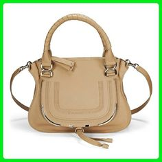 16d4a29d0dfd6 Chloe Marcie Wet Sand Smooth Leather Satchel 3S0860-873-20Z - Shoulder bags  (