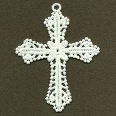 FSL Filigree Cross 10 - 4x4 | FSL - Freestanding Lace | Machine Embroidery Designs | SWAKembroidery.com Ace Points Embroidery
