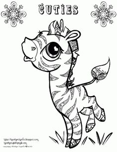 Creative Cuties: free zeabra coloring page
