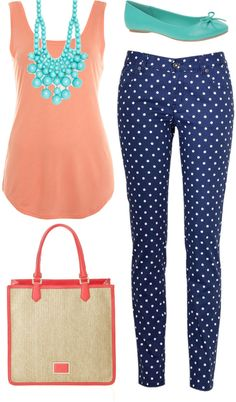 """""""polka dot jeans   outfit one"""" by boxandbrownie on Polyvore"""