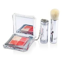 Layer Blush Compact (4 Color Blush Compact + Brush) - # 02 Pop Sorbet - 4.2g/0.14oz