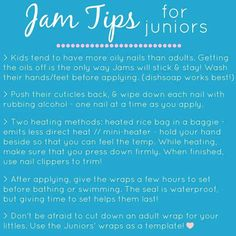 Some Jamberry tips and tricks for Jamberry Juniors.