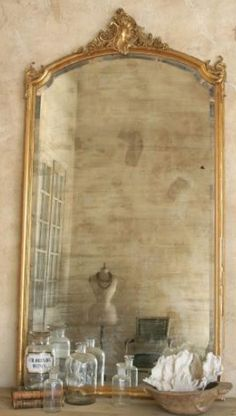 French Mirror- want an oversized mirror like this! it's like through the looking glass #girlsguideparis