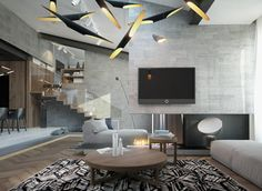 Homes With Inspiring Wall Treatments And Designer Lighting