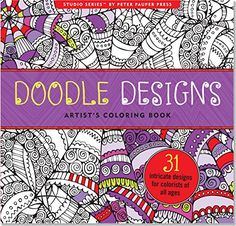 Doodle Designs Adult Coloring Book Stress Relieving Studio By Peter Pauper Press