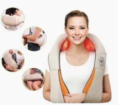 Trasporto libero caldo di figura di u elettrico shiatsu back neck spalla massaggiatore spina di ue e spina piatta