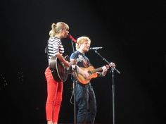 """I took this picture of Ed and Taylor performing """"Everything Has Changed"""" at the Taylor Swift & Ed Sheeran concert.. They did an amazing job and are both amazing & talented artists..."""