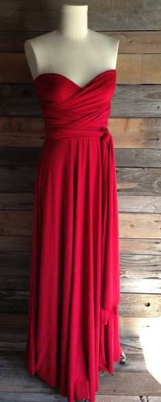 Grecian Goddess Red Red Wine Wrap Dress in Maxi Length on Etsy, $90.00