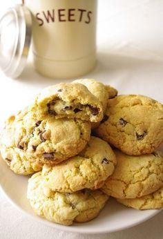 Une recette ultra fondante et généreuse pour des gros cookies aux pépites de chocolat comme aux USA.