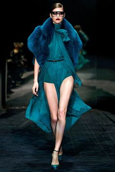 See the complete Gucci Fall 2011 Ready-to-Wear collection.  Looking for more teal fashion & street style ideas? Check out my board: Teal Street Style by @aureliansupply  Street Style // Fashion // Spring Outfit // Style Ideas