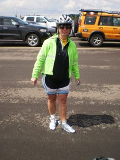 Sporting thermal footwear for wet cold rides.