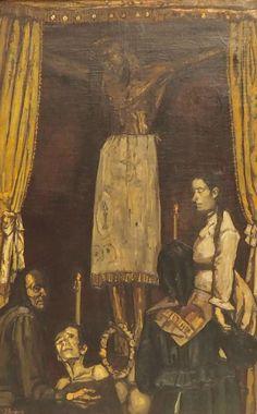 El Cristo de Burgos, José Gutiérrez Solana. Spanish Painters, Spain, Painting, Christ, Eucharist, El Greco, Paintings, Artists, Sevilla Spain