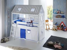 Białe łóżko domek dla dzieci