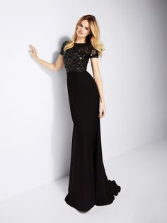 Feminine black evening gown Banquet Dresses 3a86b40c84d8