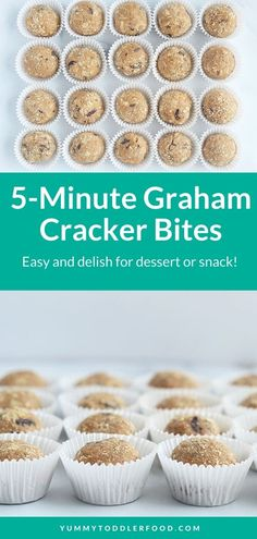 Stir together a few simple pantry staples to make the yummiest no-bake snack or dessert. These Graham Cracker Peanut Butter Balls are bite-size bliss with a distinctly s'mores vibe and make a great healthy snack or dessert.