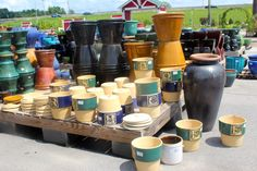 One stop shopping at The Barn Nursery Pottery Outlet, exit 181.   Pick your pots, petals and potting soil!   423-698-2276 07/11/13