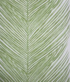 Mey Fern Wallpaper A over-scaled feathered fern leaf wallpaper in green.