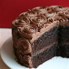"Black Magic Cake | ""Hands down, the BEST chocolate cake I have ever made..and it is requested over and over again by family. Be sure to follow the directions exactly, and use the best cocoa you can find. The recipe is super easy. Great with chocolate ganache frosting."""