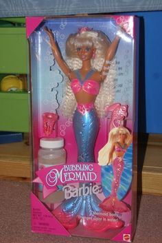 1996 Barbie Bubbling Mermaid Bubbles Magical Crown New 074299161322 | eBay