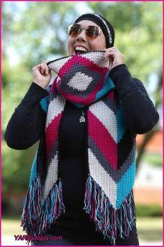 Crochet Tutorial  Arrows and Fringe Boho Fashion Scarf 380adcf53