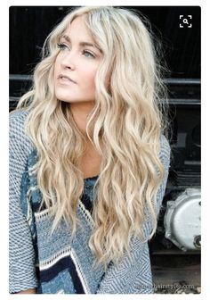 blonde with a light perm