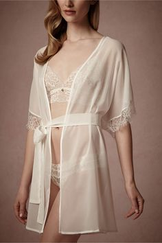 Dulce Lace Robe in Sale Lingerie at BHLDN