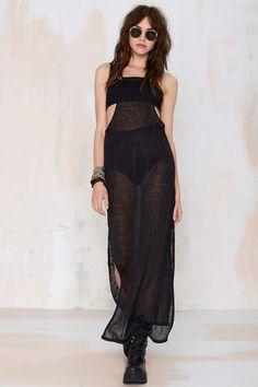 Dylan Sheer Black Maxi Dress
