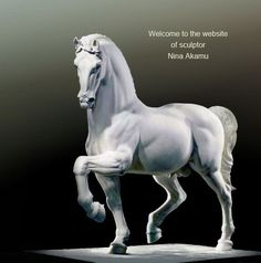 Official website of Nina Akamu, the amazing sculptor artist who gave life to Leonardo da Vinci's horse (1999). More info about her and her work by clicking on the picture.  #akamu #nina #davinci #horse #milan #italy #artist #sculptor