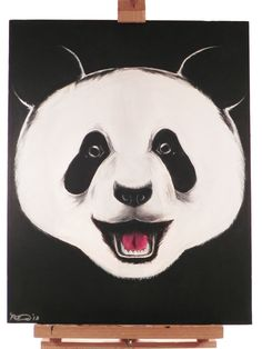 PANDA Painting Acrylic PANDA Handmade Art on by SwordGalleries, $199.99