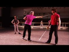Romeo and Juliet sword-fight rehearsal (The Royal Ballet) - YouTube  Fencing AND ballet--yes, yes, yes!