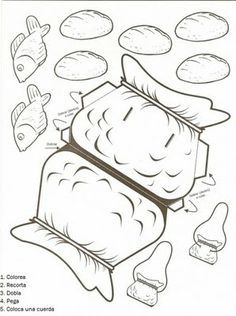five loaves and two fishes preschool craft - Google Search