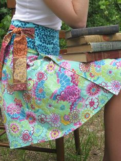 reversible wrap skirt .