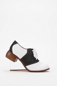 Jeffrey Campbell Sock Hop Clear Wedge Heel  #UrbanOutfitters