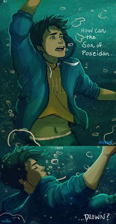 How can the Son of Poesidon. by vvivaa on DeviantArt-How can the Son of Poesidon… by vvivaa on DeviantArt - Percy Jackson Fan Art, Percy Jackson Characters, Percy Jackson Fandom, Divergent Funny, Best Amazon Products, Tio Rick, Veronica Roth, Rick Riordan Books, Celebration Quotes