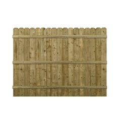 Spruce Dog-ear Pressure Treated Wood Fence Privacy Panel (common: 6-ft X 8-ft…
