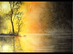 Aquarellschule ellathefay: Misty Lake (Speed Paintinc Concept Art) - YouTube Watercolor Water, Watercolor Paintings, Watercolours, Birch Tree Art, Watercolour Tutorials, Art Tutorials, Painting Inspiration, Concept Art, Lakes