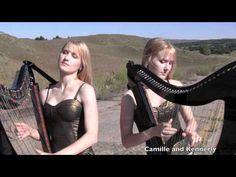Sweet Child O' Mine - Guns N' Roses (Electric Harp Duet) Camille and Kennerly, Harp Twins