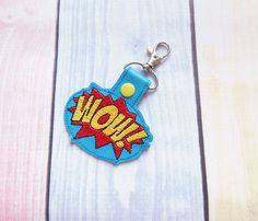 WOW  snap tab In the hoop Machine Embroidery Design. Comic