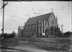 St Paul's Church, Auckland, 1909 Reference Number: Photographer: William Archer Price Dry plate glass negative Price Collection, Photographic Archive, Alexander Turnbull Library Find out more about this image from the Alexander Turnbull Library. Auckland, New Zealand, Past, The Neighbourhood, History, Kiwi, Caption, Building, Places